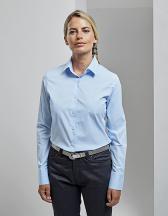 Ladies Stretch Fit Poplin Long Sleeve Cotton Shirt