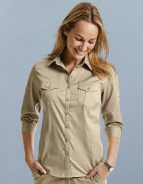 Ladies´ Roll 3/4 Sleeve Fitted Twill Shirt